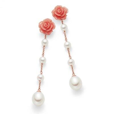 Nihama orecchini con fiore e perle