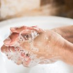 clean your hands after touching feces