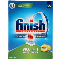 Finish Power Ball Super Charged All In 1 Lemon Tablets - 55ea
