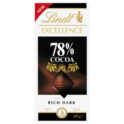 Lindt Excellence 78% Cocoa Rich Dark Chocolate Block - 100g