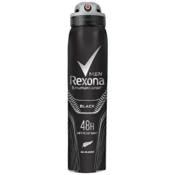 Rexona Men All Black World Champion Strength Deodorant - 250ml
