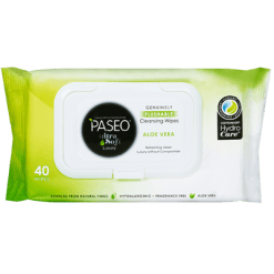 Paseo Ultra Soft Aloe Vera Cleansing Wipes - 40ea