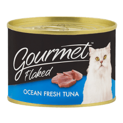 Gourmet Flaked Ocean Fresh Tuna Flaked Cat Food - 185g