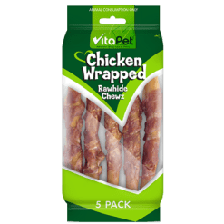 VitaPet Chicken Wrapped Rawhide Chewz - 5ea