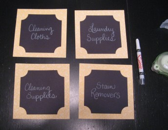 Redberrydeals_laundry room labels_fake_chalkboard labels
