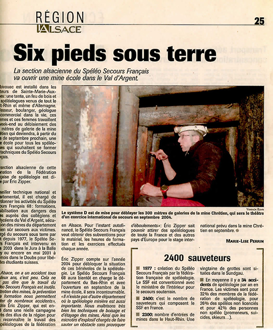 2004 03 Ouverture Mine ecole