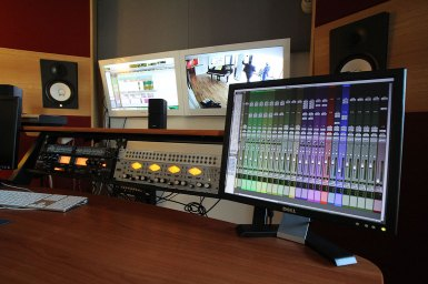 RedBox Recording eMixing desk in Control Room Two