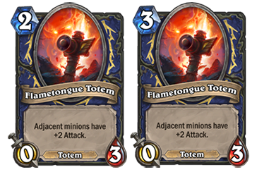 Flametongue Totem will increase in mana from 2 to 3