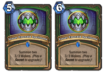 Lesser Emerald Spellstone will rise from 5 to mana