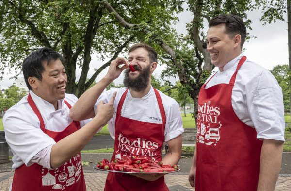 Chefs (L-R) James Wong, Brad Carter and Jaques van der Merwe