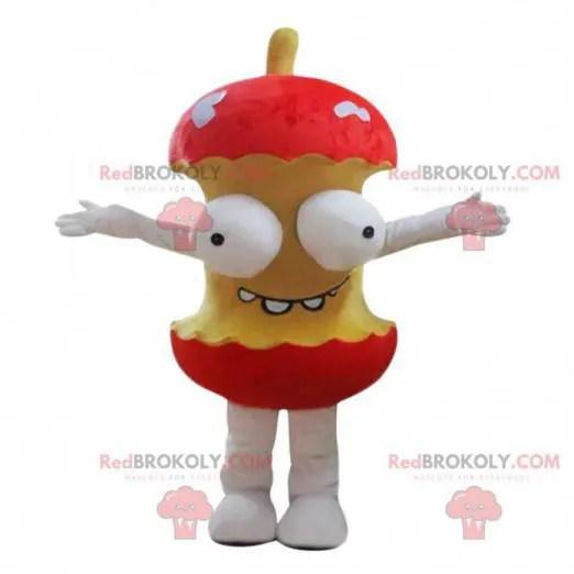 Mascotte De Trognon De Pomme Geant Avec Les Yeux Taille L 175 180 Cm