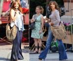 """On """"The Back-up Plan"""" Set With Jennifer Lopez Carrying A Diane von Furstenberg Bag"""