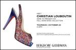 Meet Christian Louboutin Tomorrow @ Bergdorf Goodman