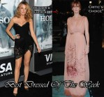 Best Dressed Of The Week - Blake Lively In Dolce & Gabbana And Kelly Reilly In Alberta Ferretti