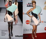 """Runway To Grammy Awards """"Salute To Icons Honoring Doug Morris"""" Clive Davis Event - Rihanna In Viktor & Rolf"""