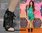2010 Nickelodeon Kids' Choice Awards - Victoria Justice Wearing Alexander Wang Freja Boots