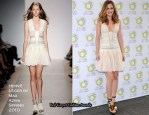 Herbal Essences Madrid Promotion - Leighton Meester In Hervé Léger by Max Azria