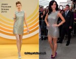 X Factor Dublin Auditions - Katy Perry In Jenny Packham