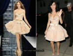 Late Night with David Letterman - Katy Perry In Zuhair Murad Couture & Herve Leger