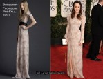 Leighton Meester In Burberry Prorsum - 2011 Golden Globe Awards
