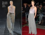 Charlize Theron In Roland Mouret - 2011 GQ Men Of The Year Awards
