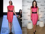 Camilla Belle In Monique Lhuillier - Chopard South Coast Plaza Boutique Re-Opening