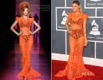 Fergie In Jean Paul Gaultier Couture - 2012 Grammy Awards