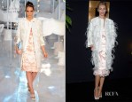 Abbey Clancy In Louis Vuitton - Louis Vuitton Fall 2012 Presentation