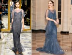 Georgina Chapman In Marchesa - White House State Dinner