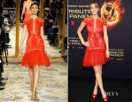 Jennifer Lawrence In Marchesa - 'The Hunger Games' Berlin Premiere