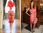 Zoe Saldana In Alexis Mabille Couture - 25 Most Powerful Stylists Luncheon