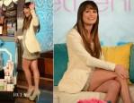 Lea Michele In Armani & J Brand - Bethenny