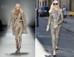 Gwen Stefani In Blumarine - Out In New York City