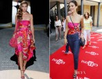 Jessica Alba In Salvatore Ferragamo - 2012 Giffoni Film Festival Press Conference