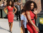 Serena Williams In Victoria Beckham - Late Show With David Letterman