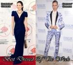 Best Dressed Of The Week - Zhang Ziyi In Marc Bouwer Couture & Karolina Kurkova In Roberto Cavalli