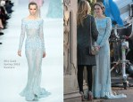 On The Gossip Girl Set With Leighton Meester In Elie Saab Couture