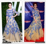 Who Wore Monique Lhuillier Better...Lily Collins or Sharon Osbourne?