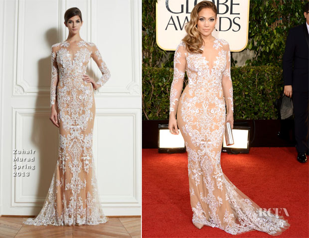 Jennifer Lopez In Zuhair Murad - 2013 Golden Globe Awards