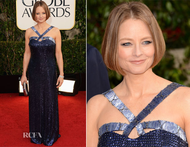 Jodie Foster In Giorgio Armani - 2013 Golden Globe Awards