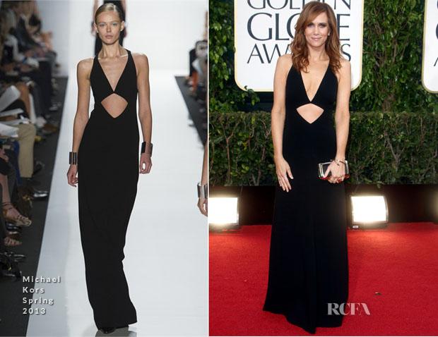 Kristen Wiig In Michael Kors - 2013 Golden Globe Awards