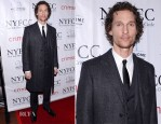 Matthew McConaughey In Dolce & Gabbana - 2012 New York Film Critics Circle Awards