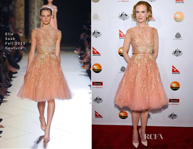 Nicole Kidman In Elie Saab Couture - 2013 G'Day USA Los Angeles Black Tie Gala