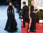 Rosie Huntington-Whiteley In Saint Laurent - 2013 Golden Globe Awards