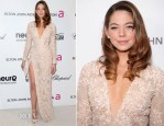 Analeigh Tipton In Elie Saab - 2013 Elton John AIDS Foundation Oscars Party