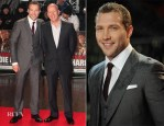 Jai Courtney In Giorgio Armani & Bruce Willis In Dior Homme - 'A Good Day to Die Hard' London Premiere