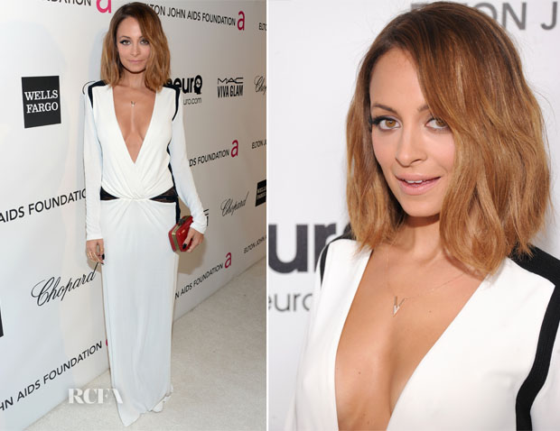Nicole Richie In Roberto Cavalli - 2013 Vanity Fair Party