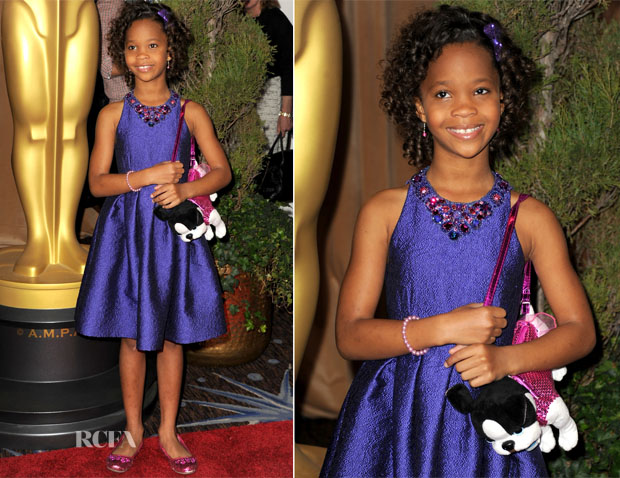 Quvenzhané Wallis In David Meister - 85th Academy Awards Nominations Luncheon