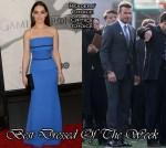 Best Dressed Of The Week - Emilia Clarke In Victoria Beckham and David Beckham