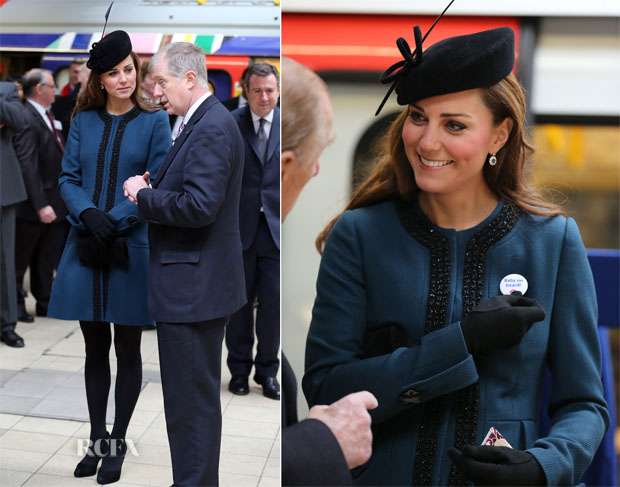 Catherine, Duchess of Cambridge In Malene Birger - 150th Anniversary of the London Underground